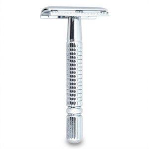 Máquina de afeitar metálica