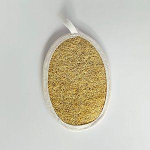 Esponja natural ovalada doble con reborde