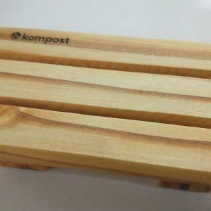 Jabonera 13 x 7.5 cm Kompost® en madera curada