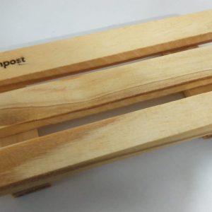 Jabonera Grande XL Kompost® 18 x 8 cm en madera curada